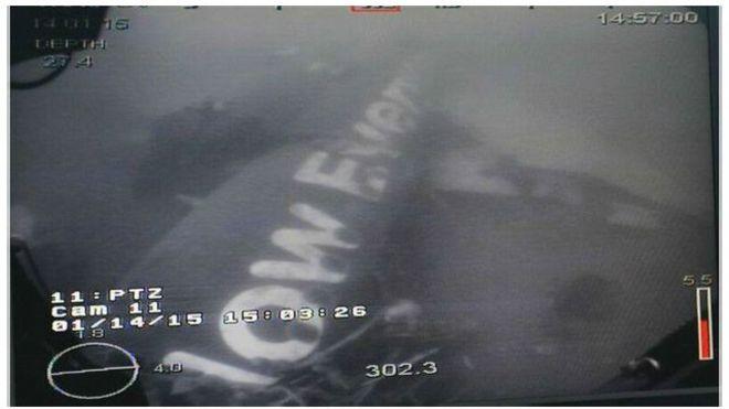 Foto badan pesawat AirAsia