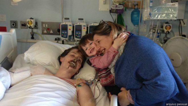 Alex Lewis e sua familia (Foto: arquivo pessoal)
