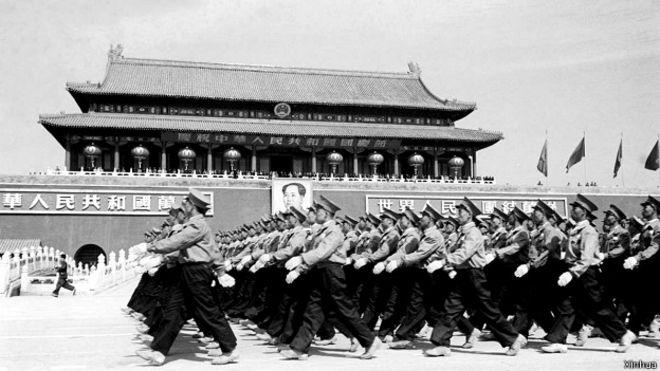 1950年新中国第一次国庆大阅兵