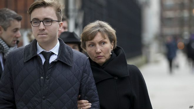 Сын и вдова Литвиненко