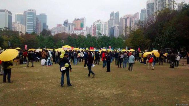 香港民陣發起「佔中」後首次「爭普選」遊行