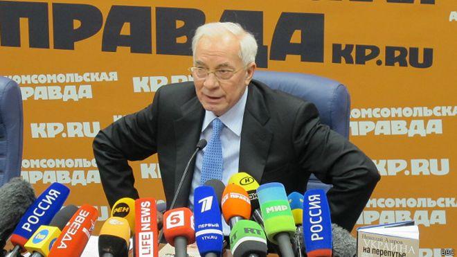 Экс-премьер-министр Украины Николай Азаров впервые после бегства за границу дал интервью