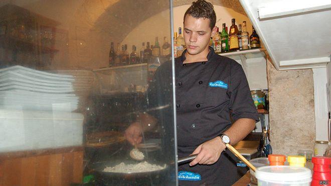 Cocinero del Café Bohemia