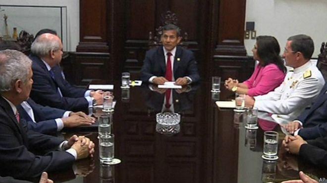 Ollanta Humala en Consejo de Estado