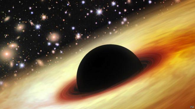 Interpretación artística del agujero negro
