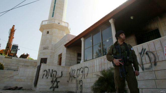 Mezquita profanada