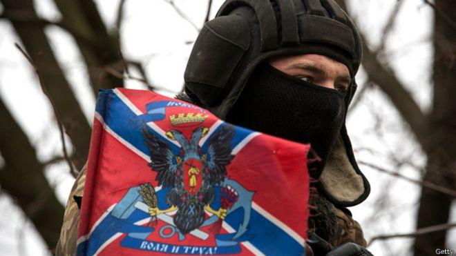 Пророссийский сепаратист в Донбассе