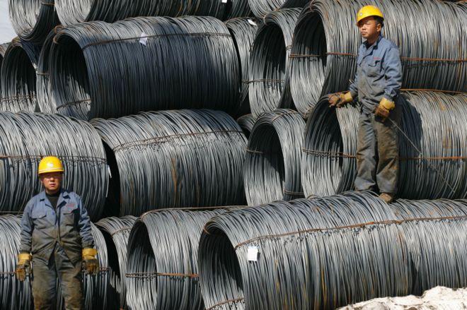 中國龐大的鋼鐵產能面臨需求下降的困境。