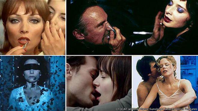 Коллаж из кадров эротических фильмов