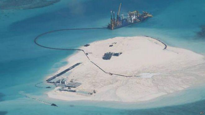 Marinha dos EUA Faz Alerta Sobre Ilha Artificial Chinesa