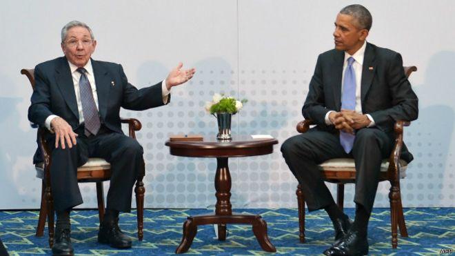 Обама и Кастро провели историческую встречу в Панаме