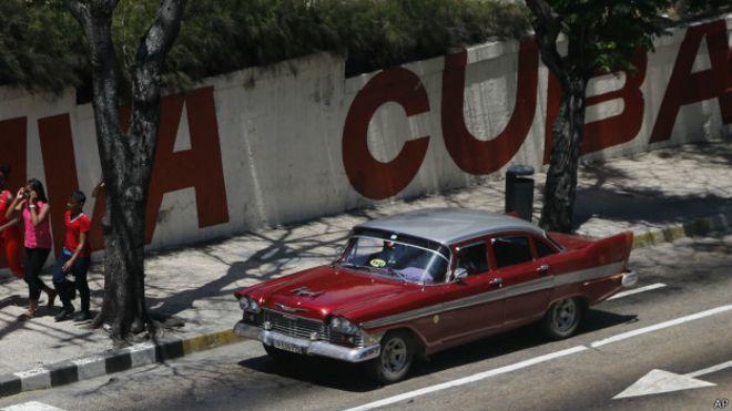 Старая машина на Кубе