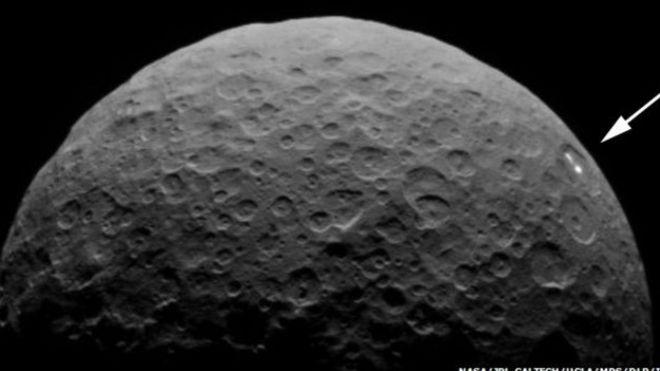 No se sabe a ciencia ciertá por qué aparecen esos puntos luminosos en Ceres.
