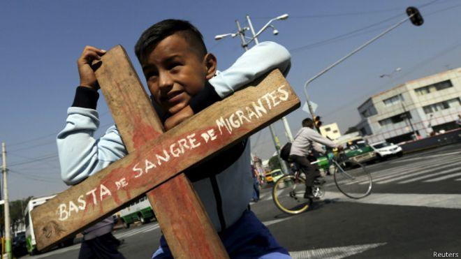 Manifestación a favor de los mograntes en México