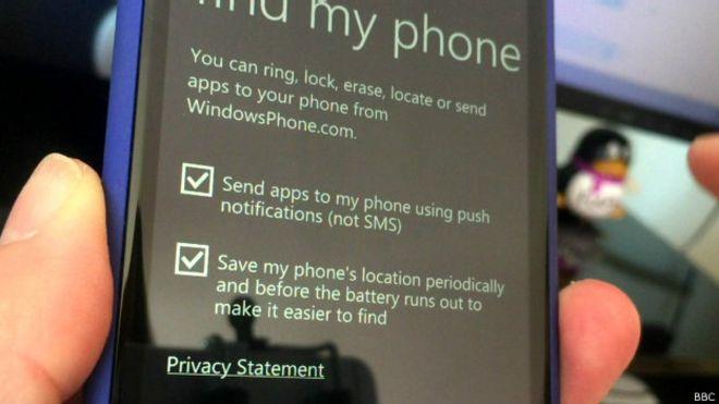 aplicación Find My Phone (encuentra mi teléfono)