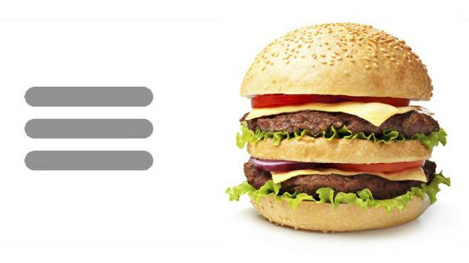 �Qu� son las tres rayas que parecen una hamburguesa en su dispositivo m�vil?
