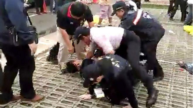 金門夏張會外發生互毆事件 5人受傷