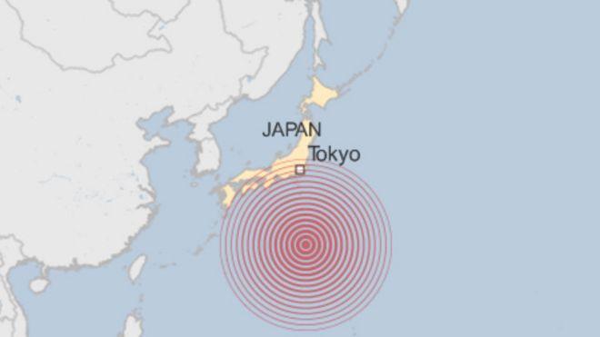 Động đất ở Nhật Bản hôm 30/5/2015