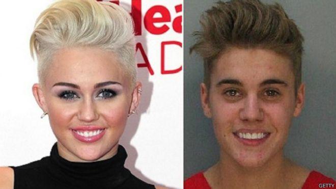 Si siempre quisiste saber si Justin Bieber y Miley Cyrus se parecían realmente, ahora puedes saberlo gracias a la web TwinsOrNot.net.