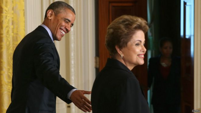 Dilma Rousseff e Barack Obama | Foto: Getty