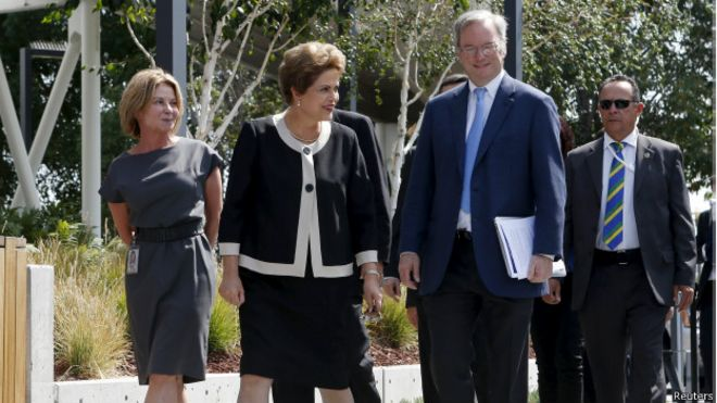 Dilma na sede do Google (Reuters)