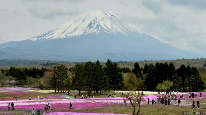 Vista del Monte Fuji, en Japón