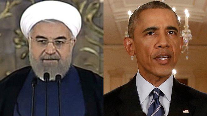 El presidente de Irán, Hassan Rouhani y el de EE.UU., Barack Obama