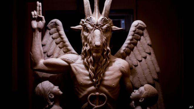 Estados Unidos: la escultura del diablo que develaron en Detroit