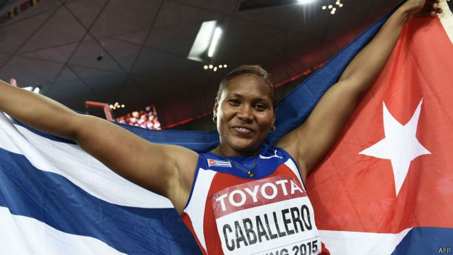 Oro para la cubana Denia Caballero en Pek�n 2015 por lanzamiento de disco