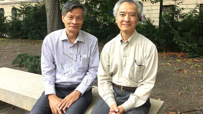 TS Nguyễn Quang A (trái), GS Ngô Vĩnh Long (phải)