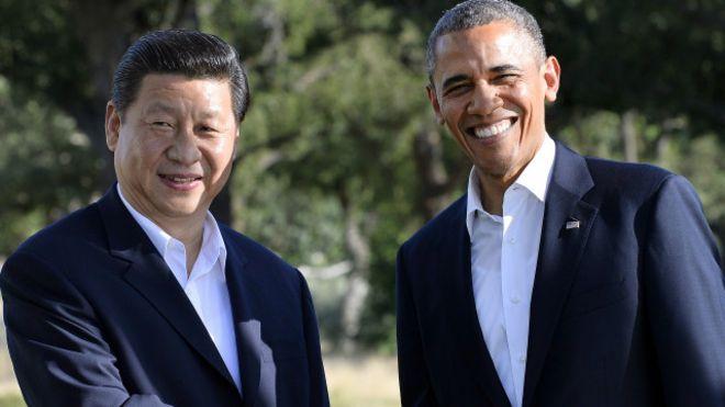 Chủ tịch Trung Quốc Tập Cận Bình và Tổng thống Mỹ Barack Obama