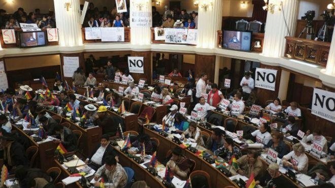 El debate en la Asamblea Legislativa de Bolivia