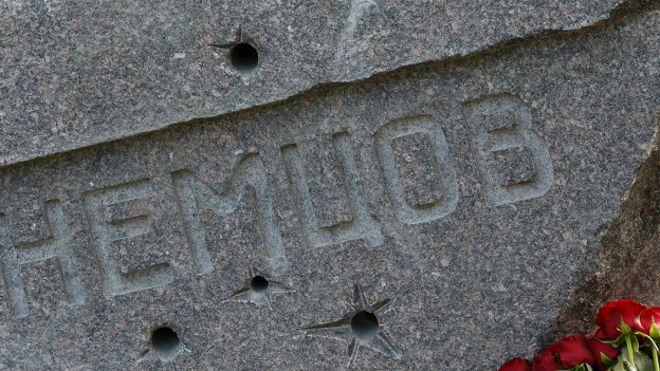 Памятник на могиле Бориса Немцова