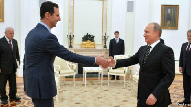 Assad na Putin