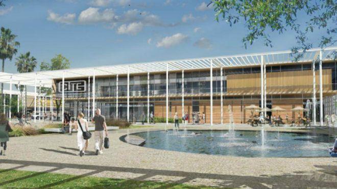 Imagen del diseño del campus de investigación de Cite City