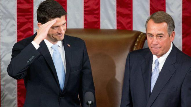انتخاب بول راين رئيسا لمجلس النواب في الكونغرس الأمريكي