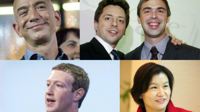 Multimillonarios de empresas tecnológicas