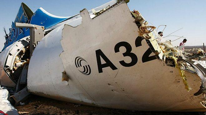 El avión ruso que cayó en el Sinaí