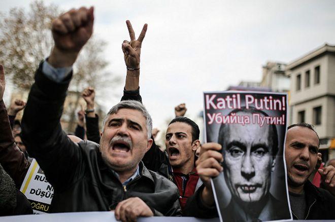 демонстрация 27.11.15 в Стамбуле
