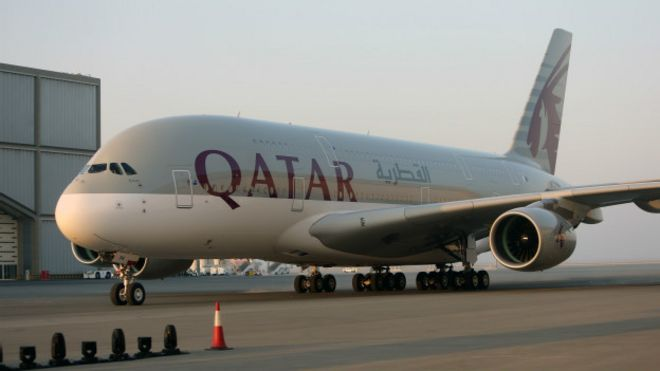 Un avión de Qatar Airways