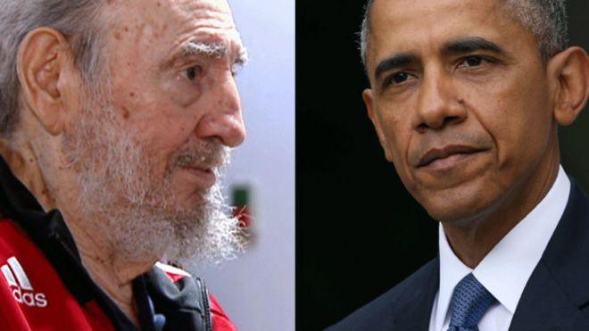Resultado de imagen para Presidente Obama y Fidel Castro