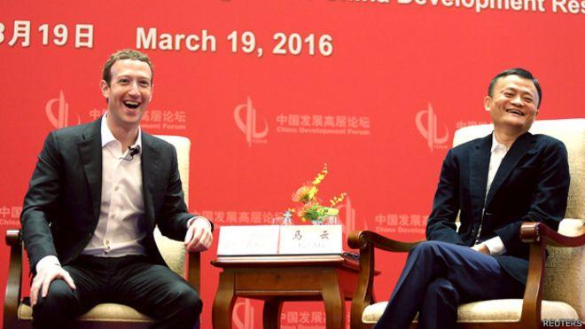 Mark Zuckerberg en Pekín junto a Jack Ma