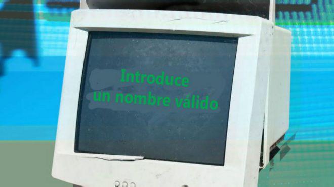 Una computadora con un mensaje poco amigable