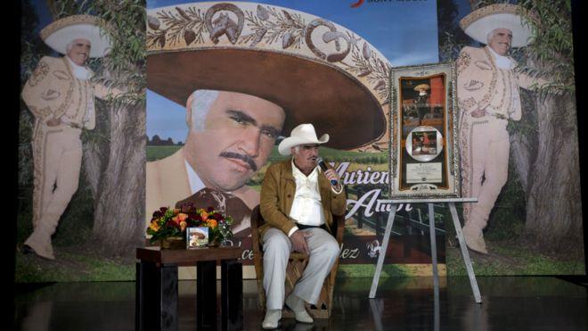 Vicente Fernández durante una conferencia en Tlajomulco de Zuniga, Mexico, en octubre de 2015.