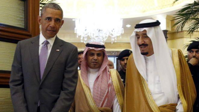 Barack Obama junto al rey Salman