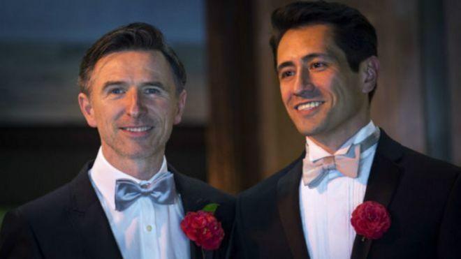 Питер Макграф и его партер Дэвид Кабреза в день свадьбы