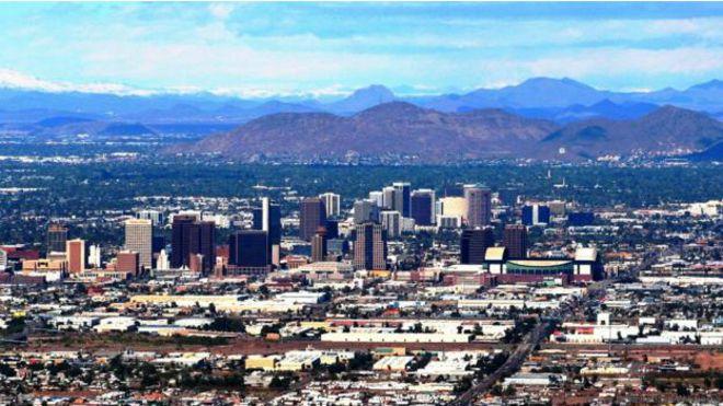 Phoenix, no Estado americano do Arizona, é a segunda cidade do mundo com mais dias de sol no ano. Foto: Getty Images.