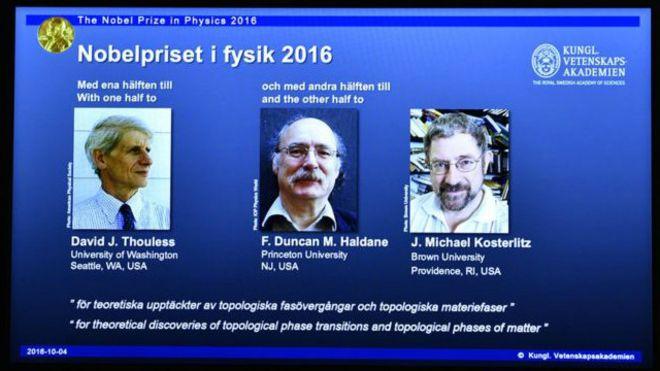 فوز 3 علماء بريطانيين بجائزة نوبل للفيزياء