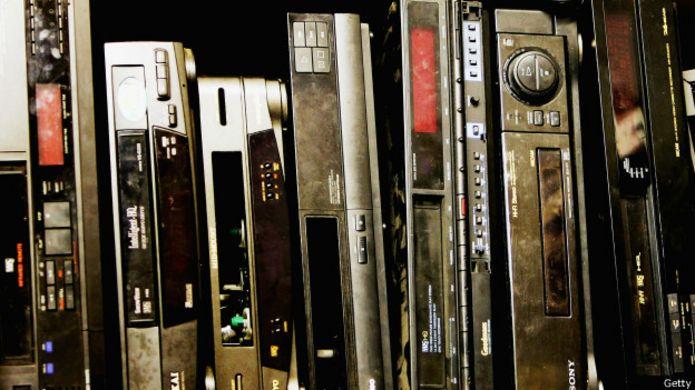 Viejos VHS descontinuados