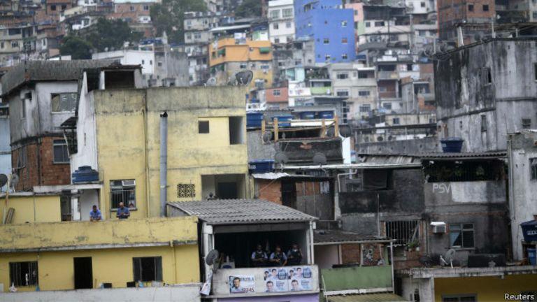Favela de Rocinha, Río de Janeiro.